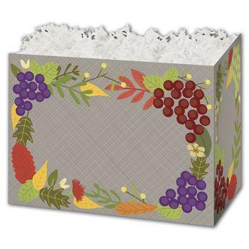 Fall Foliage Gift Basket Boxes, 10 1/4 x 6 x 7 1/2
