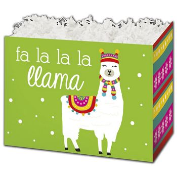 Fa La Llama Gift Basket Boxes, 10 1/4 x 6 x 7 1/2
