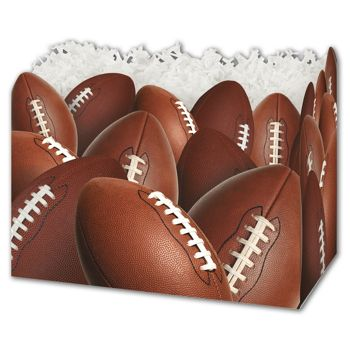 Football Gift Basket Boxes, 10 1/4 x 6 x 7 1/2
