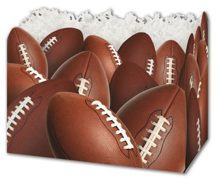 Football Gift Basket Boxes, 10 1/4 x 6 x 7 1/2""