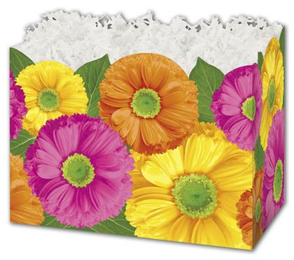 """Gerber Daisies Gift Basket Boxes, 10 1/4 x 6 x 7 1/2"""""""