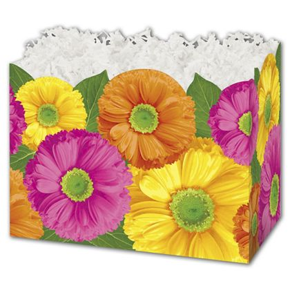 Gerber Daisies Gift Basket Boxes, 10 1/4 x 6 x 7 1/2""