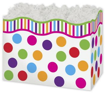 Gumballs Gift Basket Boxes, 10 1/4 x 6 x 7 1/2