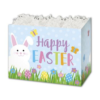 Happy Easter Gift Basket Boxes, 10 1/4 x 6 x 7 1/2
