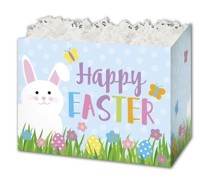 """Happy Easter Gift Basket Boxes, 10 1/4 x 6 x 7 1/2"""""""