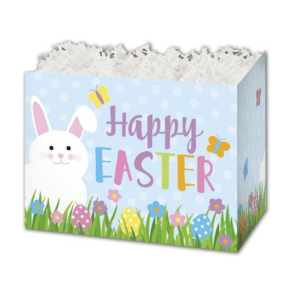 Happy Easter Gift Basket Boxes, 10 1/4 x 6 x 7 1/2""