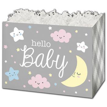 Hello Baby Gift Basket Boxes, 10 1/4 x 6 x 7 1/2