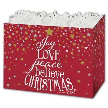 Holiday Spirit Gift Basket Boxes, 10 1/4 x 6 x 7 1/2