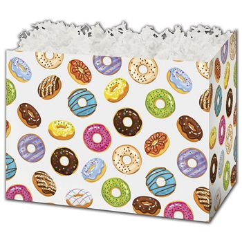 Lots of Donuts Gift Basket Boxes, 10 1/4 x 6 x 7 1/2