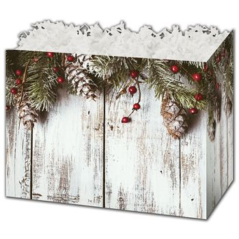 Rustic Gift Basket Boxes, 10 1/4 x 6 x 7 1/2