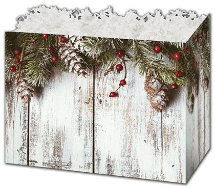 """Rustic Gift Basket Boxes, 10 1/4 x 6 x 7 1/2"""""""