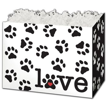 Puppy Love Gift Basket Boxes, 10 1/4 x 6 x 7 1/2