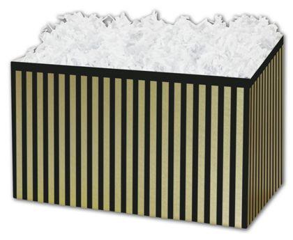 """Pinstripe Gift Basket Boxes, 10 1/4 x 6 x 7 1/2"""""""