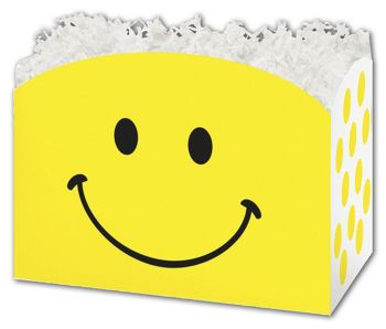 Smiley Gift Basket Boxes, 10 1/4 x 6 x 7 1/2
