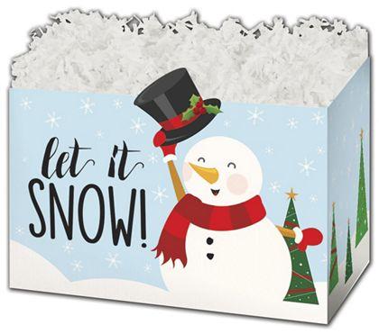 """Let it Snowman Gift Basket Boxes, 10 1/4 x 6 x 7 1/2"""""""