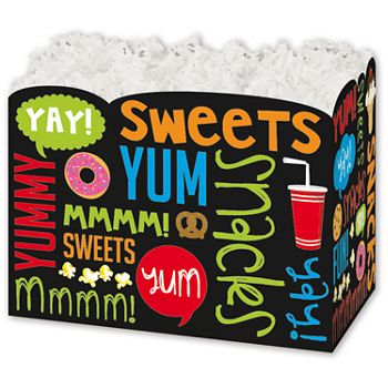 Snack Attack Gift Basket Boxes, 10 1/4 x 6 x 7 1/2