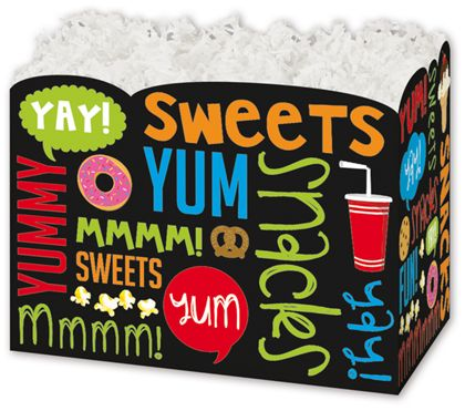 Snack Attack Gift Basket Boxes, 10 1/4 x 6 x 7 1/2""