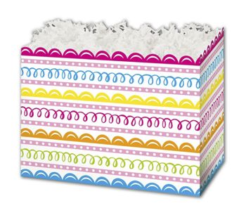 Sweet Swirls Gift Basket Boxes, 10 1/4 x 6 x 7 1/2