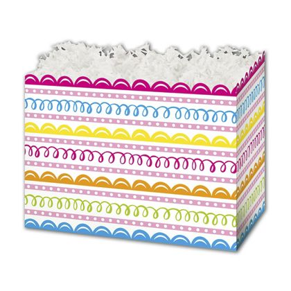 Sweet Swirls Gift Basket Boxes, 10 1/4 x 6 x 7 1/2""