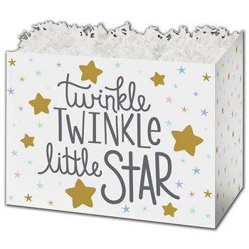 Twinkle Little Star Gift Basket Boxes, 10 1/4 x 6 x 7 1/2