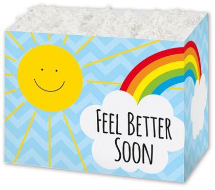 """Feel Better Sunshine Gift Basket Boxes, 10 1/4x6x7 1/2"""""""