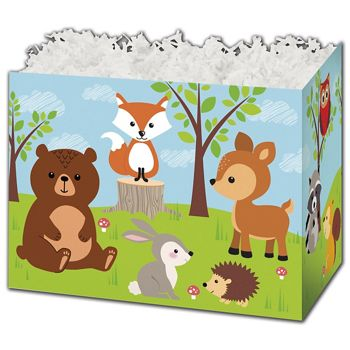 Woodland Animals Gift Basket Boxes, 10 1/4 x 6 x 7 1/2""