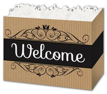 Welcome Gift Basket Boxes, 10 1/4 x 6 x 7 1/2