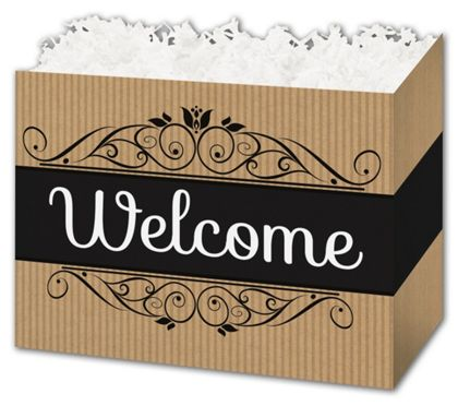 Welcome Gift Basket Boxes, 10 1/4 x 6 x 7 1/2""