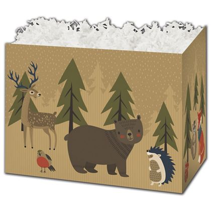 """Woodland Forest Gift Basket Boxes, 10 1/4 x 6 x 7 1/2"""""""