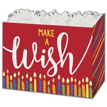 "Make a Wish Candles Gift Basket Boxes, 10 1/4 x 6 x 7 1/2"""