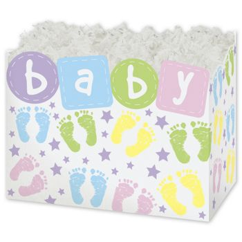 Baby Steps Gift Basket Boxes, 6 3/4 x 4 x 5