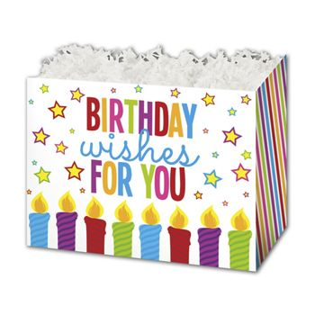 Birthday Wishes Gift Basket Boxes, 6 3/4 x 4 x 5