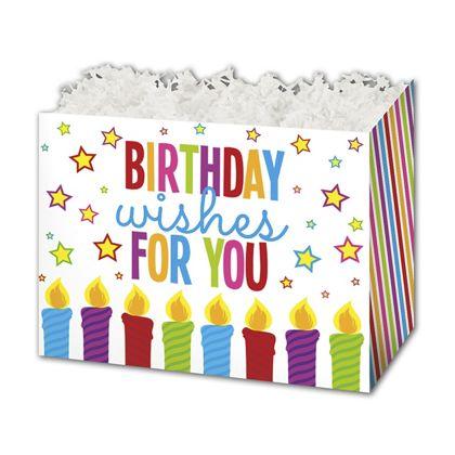 "Birthday Wishes Gift Basket Boxes, 6 3/4 x 4 x 5"""