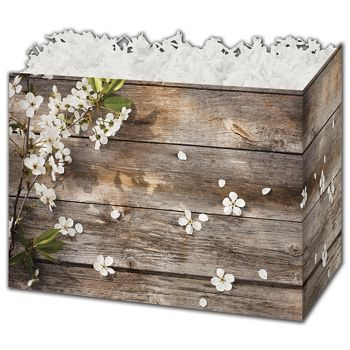 Rustic Blossoms Gift Basket Boxes, 6 3/4 x 4 x 5