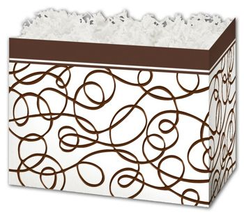 Chocolate Drizzle Gift Basket Boxes, 6 3/4 x 4 x 5