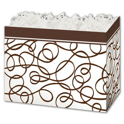 Chocolate Drizzle Gift Basket Boxes, 6 3/4 x 4 x 5""