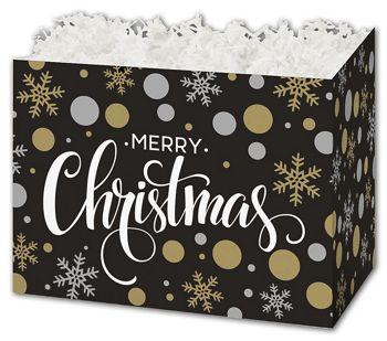 Christmas Elegance Gift Basket Boxes, 6 3/4 x 4 x 5