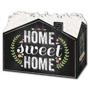 Chalkboard Home Gift Basket Boxes, 6 3/4 x 4 x 5