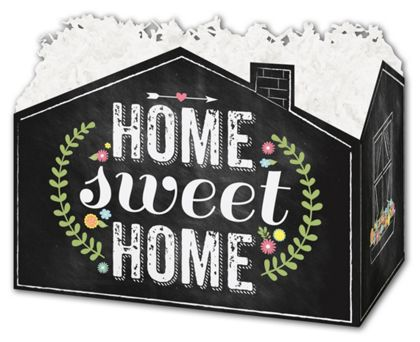 Chalkboard Home Gift Basket Boxes, 6 3/4 x 4 x 5""