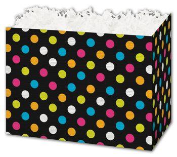 Designer Dots Gift Basket Boxes, 6 3/4 x 4 x 5