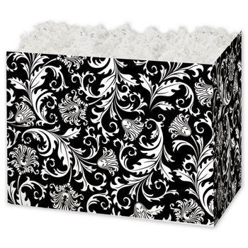 Damask Gift Basket Boxes, 6 3/4 x 4 x 5