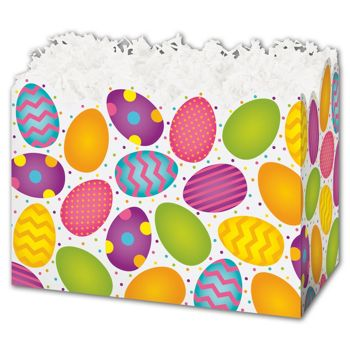 Easter Eggs Gift Basket Boxes, 6 3/4 x 4 x 5""