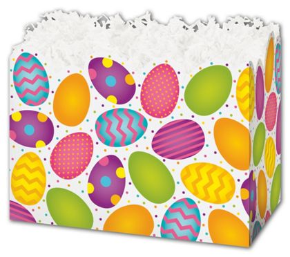 """Easter Eggs Gift Basket Boxes, 6 3/4 x 4 x 5"""""""