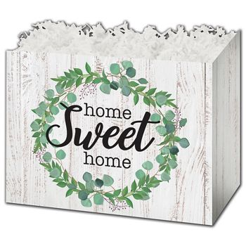 Farmhouse Home Sweet Home Gift Basket Boxes, 6 3/4x4x5