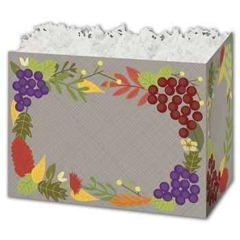 Fall Foliage Gift Basket Boxes, 6 3/4 x 4 x 5