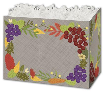 "Fall Foliage Gift Basket Boxes, 6 3/4 x 4 x 5"""