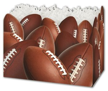 Football Gift Basket Boxes, 6 3/4 x 4 x 5