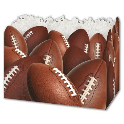 "Football Gift Basket Boxes, 6 3/4 x 4 x 5"""