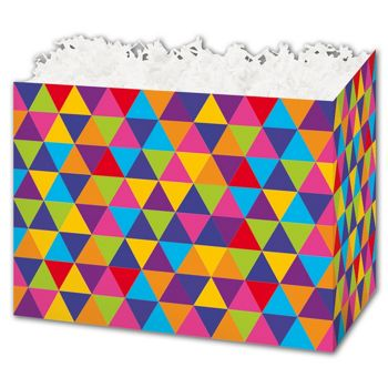 Geo Triangles Gift Basket Boxes, 6 3/4 x 4 x 5