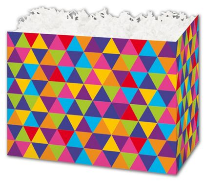 Geo Triangles Gift Basket Boxes, 6 3/4 x 4 x 5""